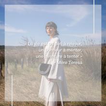 CITATION 💌 - « La vie est un défi à relever, un bonheur à mériter, une aventure à tenter » Mère Teresa. Nous aimons partager avec vous les citations qui nous inspirent, celles qui nous tirent vers le haut, celles qui nous boostent, celles qui nous font sourire. Partagez nous votre citation préférée et nous la posterons à l'avenir 🥰 - Sac Lucie en noir 🖤 Collection Candela Jungle 🌴 - #welovesabrinaparis #sabrinaparis #citation #mereteresa