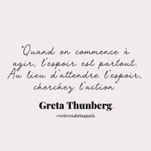 CITATION 💌 - « Quand on commence à agir, l'espoir est partout. Au lieu d'attendre l'espoir, cherchez l'action » Greta Thunberg.⠀⠀⠀⠀⠀⠀⠀⠀⠀ Tous les mardis découvrez une citation de femme forte, une citation qui nous inspire, qui nous tire vers le haut, qui nous booste, qui nous fait sourire.⠀⠀⠀⠀⠀⠀⠀⠀⠀ -⠀⠀⠀⠀⠀⠀⠀⠀⠀ #mardicitation #welovesabrinaparis #femmeforte #gretathunberg