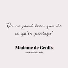 CITATION 💌 - « On ne jouit bien que de ce qu'on partage » Madame de Genlis.⠀⠀⠀⠀⠀⠀⠀⠀⠀ Tous les lundis découvrez une citation de femme forte, une citation qui nous inspire, qui nous tire vers le haut, qui nous booste, qui nous fait sourire.⠀⠀⠀⠀⠀⠀⠀⠀⠀ -⠀⠀⠀⠀⠀⠀⠀⠀⠀ #lundicitation #welovesabrinaparis #femmeforte #madamedegenlis